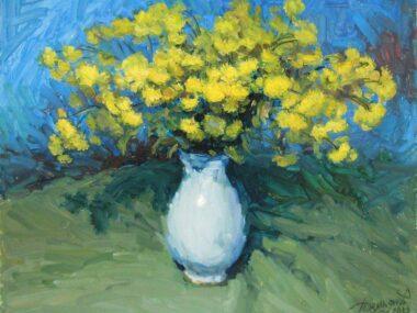 Жёлтые на голубом